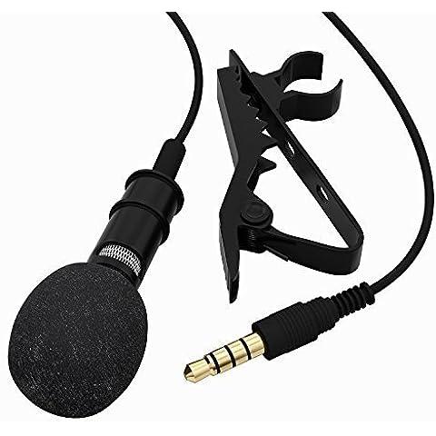 Tonor Microfono Clip A Condensatore Omnidirezionale Mini Mic con Clip