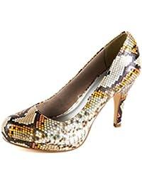 Tamaris Original Samples TA2-075 - Zapatos de Vestir de Material Sintético Para Mujer Plateado Plata 37 EU