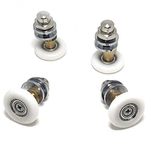 410oXCYP02L - Juego de ruedasguía para puerta de ducha, 25mm de diámetro, 8 unidades