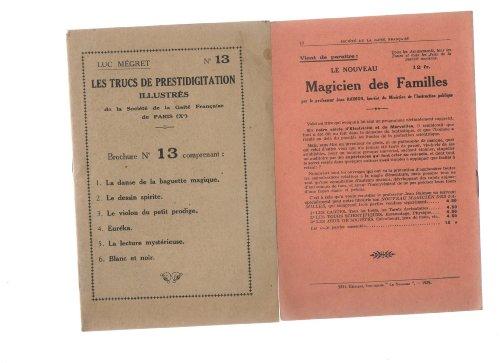 Luc Mégret. Les Trucs de prestidigitation illustrés
