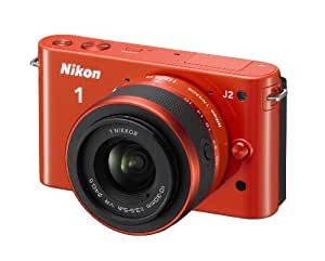Nikon 1 J2 Kit compact hybride 10,1 Mpix + Objectif 1 Nikkor VR 10-30 mm f/3.5-5.6 Orange
