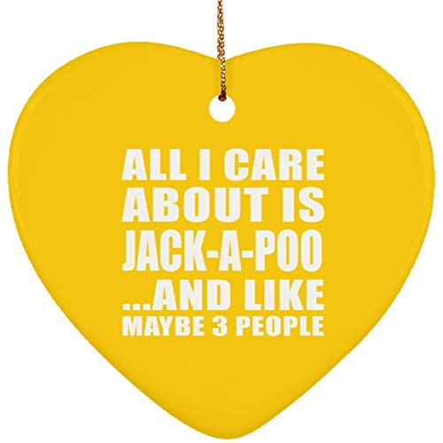 Idea, All I Care About is Jack A Poo and Like May 3 People Ornament Athletic Dog Cat Owner Bday Weihnachten Dekoration 2018 Weihnachten Geschenk ()