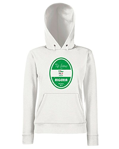 T-Shirtshock - Sweats a capuche Femme WC0652 World Cup Football - Algeria Blanc