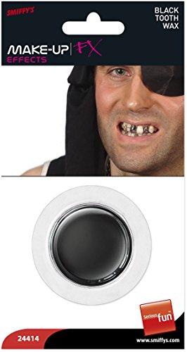 Smiffys Zahnwachs, Schwarz, - Farbe Zahn Halloween