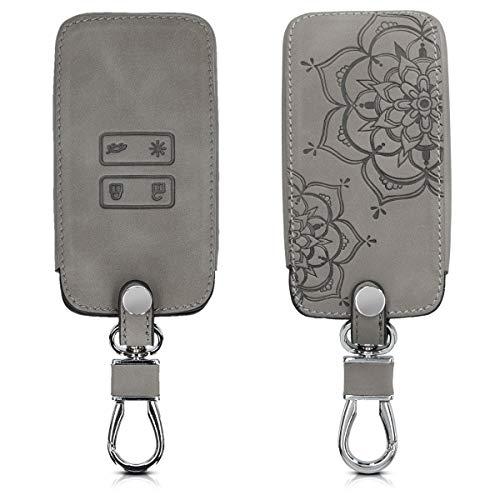 kwmobile Autoschlüssel Hülle für Renault - Nubuklederoptik - Kunstleder Schutzhülle Schlüsselhülle Cover für Renault 4-Tasten Smartkey Autoschlüssel (nur Keyless Go)