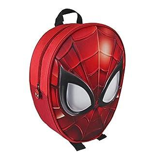TrAdE shop Traesio- Mochila Spiderman Impresión de 3D Escuela niños guardería Materna 31cm