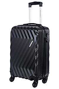 Nasher Miles Lombard Hard Side Cabin Luggage|Black 20 Inch /55CM Trolley/Travel/Tourist Bag