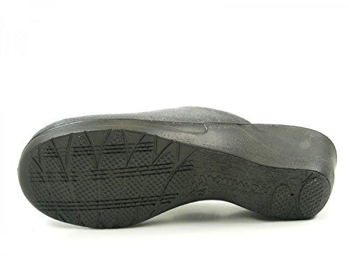 Romika Villa 127 32127-70 Schuhe Damen Hausschuhe Pantoffeln Grau