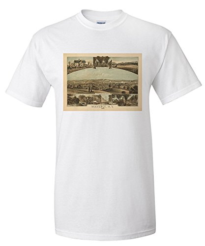 waverly-new-york-panoramic-map-premium-t-shirt