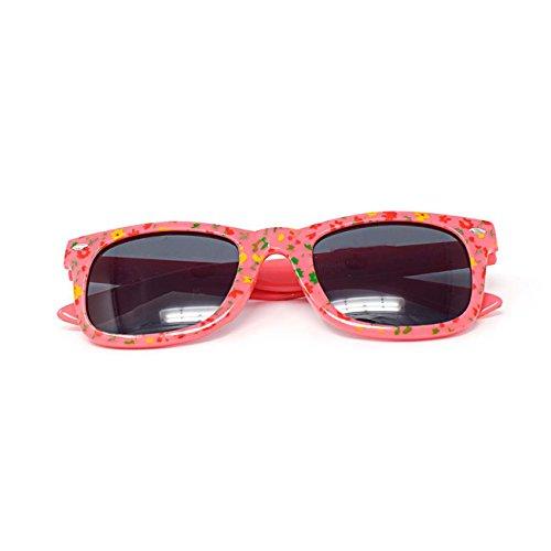 Style Wayfarer Lunettes de soleil pour enfant Noir/rose/bleu/blanc/rouge-UV400 Vernis classiques rose