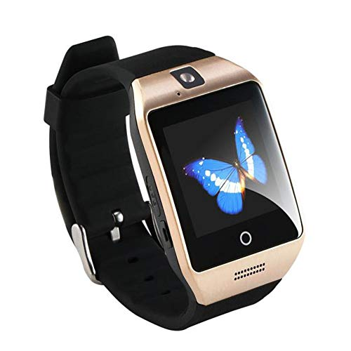 Knowin Smart Watch Herren 2019 Q18 Bluetooth Smart Uhr GSM-Armbanduhr für Android Damenuhr Rosegold Aktivitätstracker Damen Fitnessarmband mit Herzfrequenz Fitness Uhr mit Schrittzähler