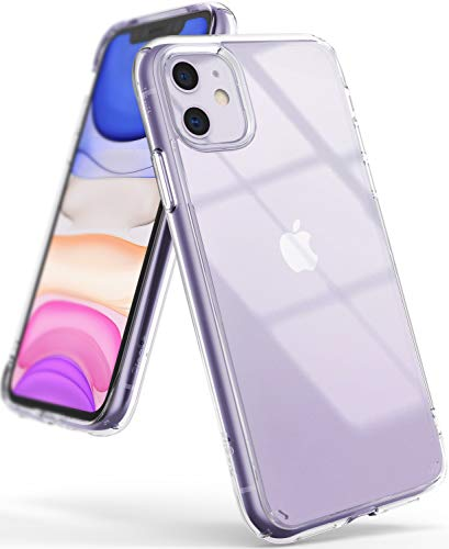 Ringke Fusion Designed for iPhone 11 Case Cover, Clear Back Shockproof TPU Bumper Phone Case for iPhone 11 6.1-inch (2019) - Transparent