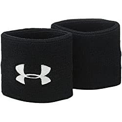 Under Armour Performance Wristbands - Muñequeras, color negro, talla única