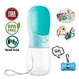 Haustier Wasserflasche Tragbare,Hunde Trinkflasche Wasserleck Verhindern,ABS...