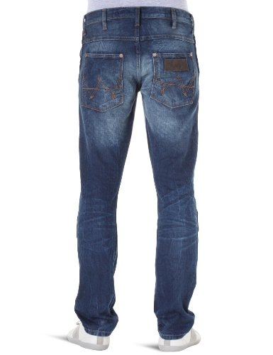 Wrangler - Spencer - Jeans slim - Homme Used - Bleu