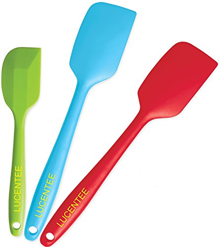 Life-Smart@ S&S 3 Premium Silicone Spatula Set Baking Spoon, Turner & Dough Scraper Spatuals