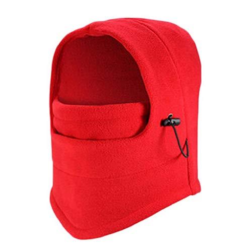 VJGOAL Damen Caps, 1PC Damenmode aus Fleece für Damen Hals Winterwärmer Gesichtsmaske Skifahren Radfahren Wandern Maske uff08Rot,1 PCuff09