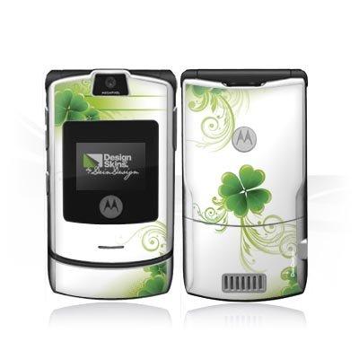 Design Skins für Motorola RAZR V3i - Cloverleaf Design Folie [Elektronik] - Razr Handy Skins