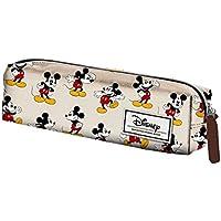 Mickey Mouse Estuche portatodo Cuadrado, Color Beige, 22 cm (Karactermanía 33609)