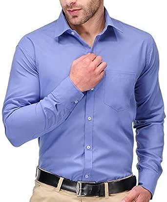 White Horse Men's 100% Cotton Formal Shirt Long Sleeve Regular Fit