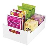 InterDesign 73331EU Aufbewahrungsbox für Küchenschrank, Speisekammer, Kühlschrank oder Gefrierschrank, Medium, weiß