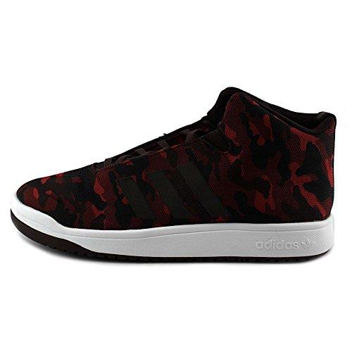 Adidas Veritas Mid Mens Casual Turnschuhe Grö�e Us 8,5, Regular Breite, Farbe Burgund / schwarz Burgundy/Night Red/White