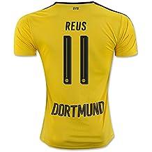 20162017Borussia Dortmund camiseta de 11marco Reus casa fútbol Jersey de flores en amarillo, hombre, amarillo, small