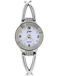 mjartoria Mujer brillantes Reloj de pulsera elegante acero inoxidable Pulsera Bisutería Mujer Reloj analógico de cuarzo