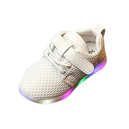 Baby Mädchen und Jungen Kleinkind Mode Stern leuchtendes Kind Bunte helle Schuhe Kinder Schuhe mit Licht Led Leuchtende Blinkende Turnschuhe Atmungsaktives Mesh Sportschuhe für Kinder