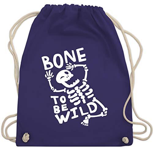 Halloween - Bone to me Wild Halloween Kostüm - Unisize - Lila - WM110 - Turnbeutel & Gym Bag (Witzige Gruppe Halloween-kostüme)