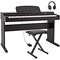 Piano Digital DP-6 de Gear4music + Paquete de Accesorios
