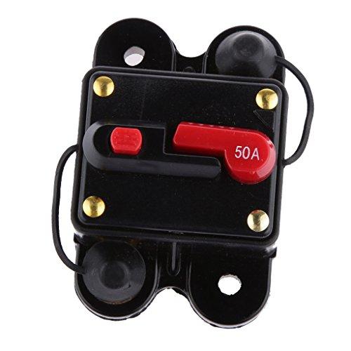 Sharplace 12V-24V Inline Auto Leistungsschalter Manuelle Reset Schalter Sicherungs Schalter Wasserdicht Schutzschalter - 50 Ampere -