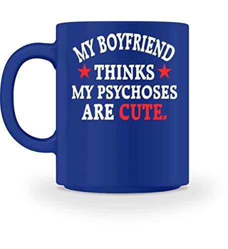 Shirtee Boyfriend Girlfriend - Psychoses are cute - Tasse
