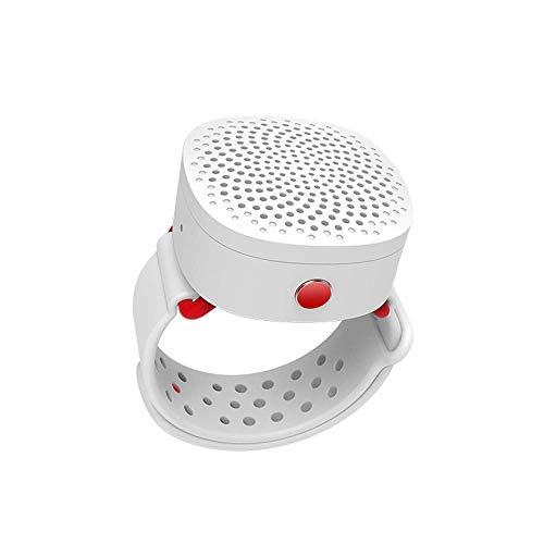 HK Bluetooth-Lautsprecher schnelles Aufladen abnehmbare Uhr, Außenlautsprecher Mini-Multifunktions-Bluetooth-Sportlautsprecher Anrufuhr drahtloser tragbarer Lautsprecher mit 6 Stunden Spielzeit,White