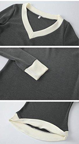 Maglia Camicetta Donna Invernali Camicia Manica Lunga Elegante Maglione T-shirt Top Felpa Con Camicetta Calda Maglia Pullover Beautytop Nero