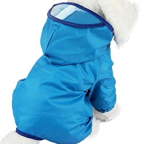EQLEF pc 1 della Pet Giacca a vento, impermeabile del cucciolo del cane cappotto cane barboncino animali colorati impermeabile indumenti impermeabili Dress Clothes