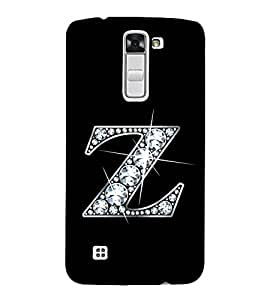 Alphabet Z 3D Hard Polycarbonate Designer Back Case Cover for LG K10 :: LG K10 Dual SIM :: LG K10 K420N K430DS K430DSF K430DSY