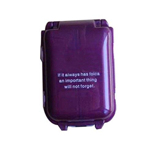 joyliveCY Tragbare 8 Slots Dichtung Falten Pillendosen Schmuck Süßigkeiten Box Aufbewahrungsbox Vitamin Medizin Pille Kasten Speicher Fall Container
