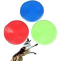 Yer perro disco de disco duro de silicona suave disco de vuelo de juguete de juguete de formación para grandes, paquete de 3 no tóxicos de silicona