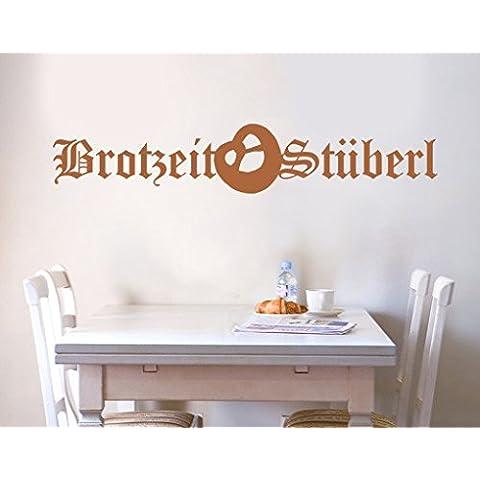 WandTattoo No. ul702Pan Tiempo stüberl pared adhesivo pared para cocina comida Almuerzo, marrón avellana,