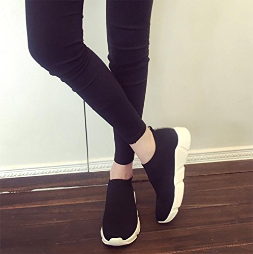 La signora imposta scarpe da tennis casuali del piede scarpe autunno signora scarpe ascensore in esecuzione Black