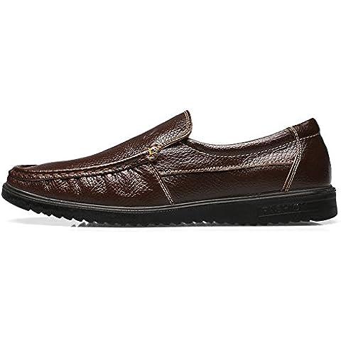 Un pedal perezoso de los hombres zapatos/Zapatos casuales de cuero