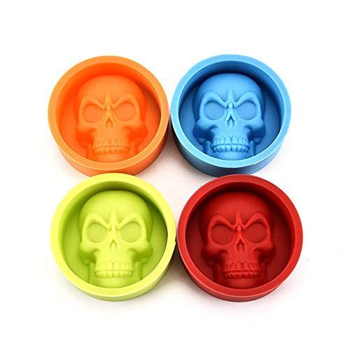 Dairxu Pop Halloween 3D Calavera Molde de Silicona para Fondant...
