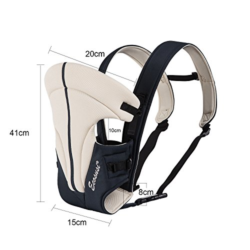 Ecosusi Babytrage 100% Polyester Bauch und Hüfttrage (3.6 – 9.1 kg) 3 Tragepositionen: Blickrichtung zum Elternteil, Blickrichtung zur Straße, auf dem Rücken des Elternteils