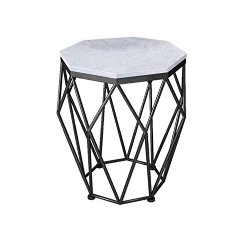 Rechteckige Frühstückstisch (ZXWDIAN Spieltisch Tisch der nordischen Tabelle Marmor Couchtisch rechteckigen Wohnzimmer Mode Schmiedeeisen Frühstückstisch (Farbe : Schwarz, größe : 47 * 47 * 56CM))