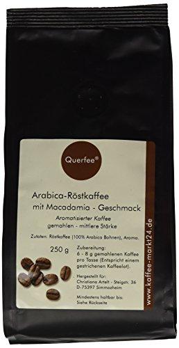 Querfee Kaffee mit Geschmack - Macadamia - Arabica Röstkaffee - gemahlen - 250 g, 1er Pack (1 x 250 g) -