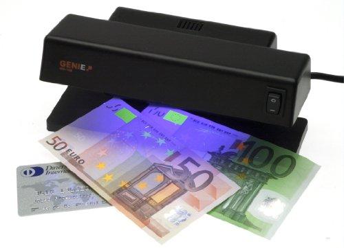 Genie MD 188 - Rilevatore di banconote false per scrivania con 1 tubo UV, tubi di irradiazione, lampada e luci