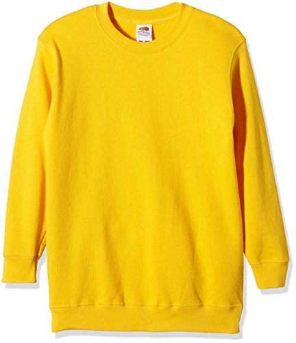 Sudadera amarilla Fruit of the Loom infantil
