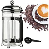 Tradico® TradicoBrand New French Press Shatter Proof Coffee & Tea Maker Stainless Steel Frame W/Spoon 20oz