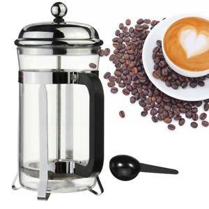 ANVNR French Press bruchsicher Coffee & Tea Maker Edelstahl Rahmen w/Löffel Klauenhammer,